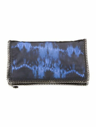 Stella McCartney Falabella Fold-Over Clutch Blue