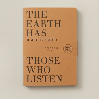 Indigo Paper Set Of 3 Notebooks Small Good Earth Earth Has Music Kraft