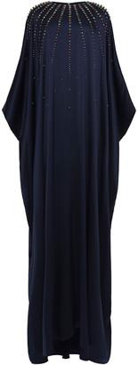 Carolina Herrera Embellished Silk-satin Crepe Kaftan