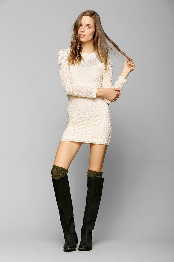 Urban Outfitters Dress The Population Noelle Lace-Inset Dress