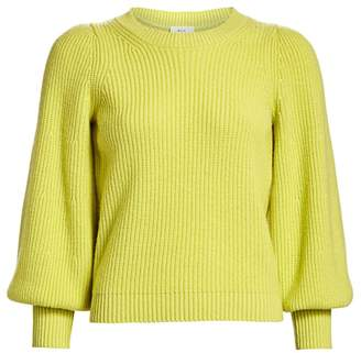 A.L.C. Eliana Puff-Sleeve Wool & Cashmere-Blend Knit Sweater