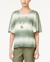 Alfred Dunner Petite Palm Desert Ombré Necklace Top