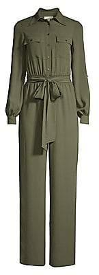 MICHAEL Michael Kors Women's Rolled Sleeve Safari Jumpsuit