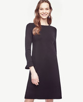 Ann Taylor Fluted Sweater Dress