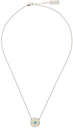 Marc Jacobs Blue and Off-White The Medallion Necklace