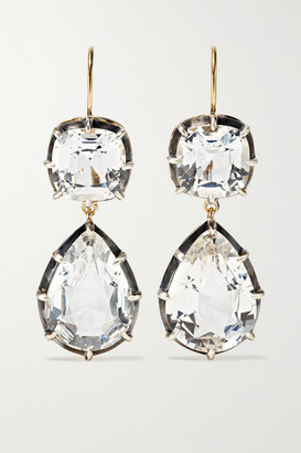 Fred Leighton Collection Silver-topped 18-karat Gold Topaz Earrings