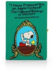 Olympia Le-Tan Women's Snoopy Embroidered Clutch - Green