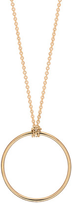 ginette_ny Mini Circle on Chain Necklace - Rose Gold