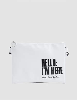 Need Logo Crossbody Bag in White