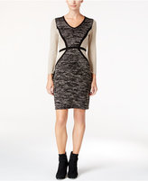 Calvin Klein Petite Colorblocked Sweater Dress