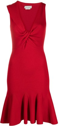 Alexander McQueen Knitted Knot-Detail Dress
