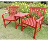 Adirondack Lenz Chair with Table Breakwater Bay Frame Color: Barn Red