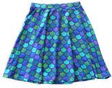 Urban Smalls Blue & Green Mermaid Scales Circle Skirt - Toddler & Girls