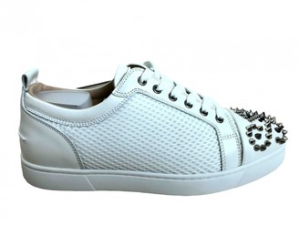 Christian Louboutin Louis junior spike White Leather Trainers