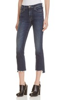 Mother Insider Crop Step Fray Jeans in Here, Kitty Kitty