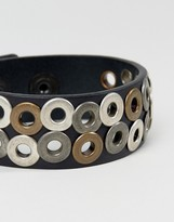 Diesel A-Quirk Studded Bracelet In Black
