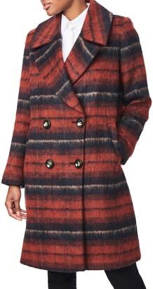 Bernardo Plaid Coat