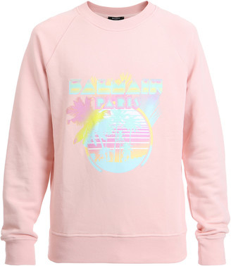 Balmain Graphic Cotton Pullover Sweatshirt