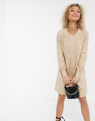 JDY shirt dress with front detail in beige