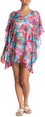 Tommy Bahama Floral V-Neck Cover-Up Tunic