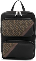 Fendi logo panelled backpack