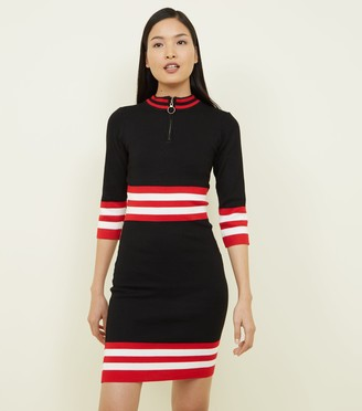 New Look QED and Stripe Waist Bodycon Dress