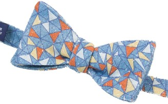 40 Colori Teal Mosaic Printed Bourette Silk Butterfly Bow Tie