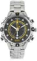 Timex Tide Temp Compass Silver Tone Stainless Steel Men's Bracelet Watch