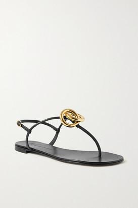 Giuseppe Zanotti Embellished Leather Sandals - Black