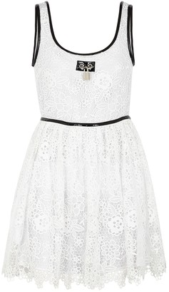 Christopher Kane White broderie anglaise mini dress