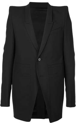 Rick Owens structured shoulders single-breasted blazer