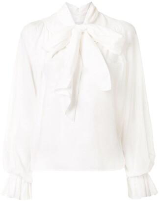 Karen Walker Ornamental pussybow blouse