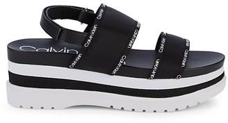 Calvin Klein Nola Platform Slingback Sandals