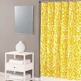 Trina Turk Ikat 72-Inch x 72-Inch Shower Curtain in Yellow