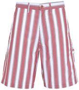 Stella McCartney red pajama striped shorts