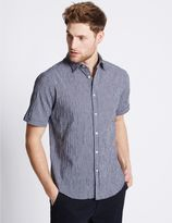 Marks and Spencer Cotton Rich Checked Shirt