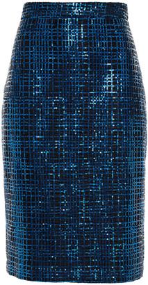 Mason by Michelle Mason Sequined Mesh Skirt