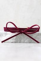 LuLu*s Gifted Black Velvet Layered Choker Necklace