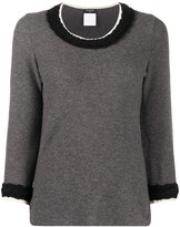 Chanel Pre Owned 2007 textured details jumper
