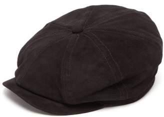 Lock & Co Hatters Tremelo Goatskin Flat Cap - Mens - Black