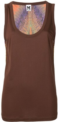 Missoni Pre Owned Back Printed Tank Top