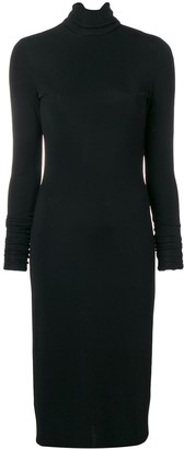 Styland Fitted Turtleneck Dress