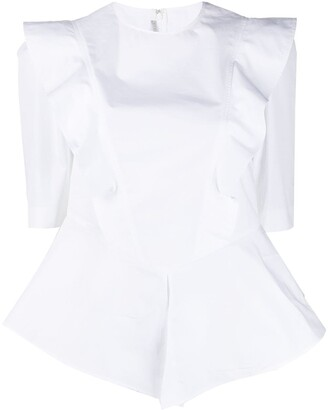 Stella McCartney asymmetric ruffled blouse