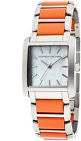 Kenneth Jay Lane Women's KJLANE-1605 Mother-of-Pearl Dial Stainless Steel and Coral Resin Watch