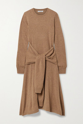 J.W.Anderson Tie-front Wool Midi Dress - Light brown