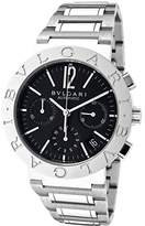 Bulgari Men's Mechanical/Automatic Chronograph Black Dial Stainless Steel