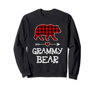 Buffalo David Bitton Grammy Bear Christmas Pajama Red Plaid Family Gift Sweatshirt
