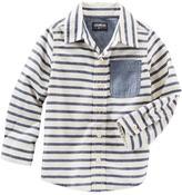 Osh Kosh Boys 4-8 Striped Button-Front Shirt