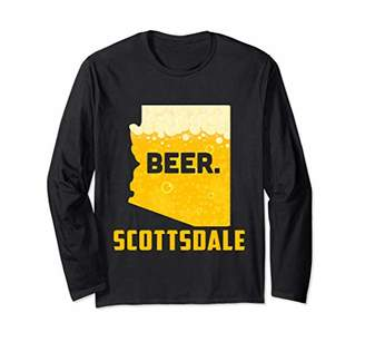 State AZ Arizona Drinking Home Love Beer Scottsdale City Long Sleeve T-Shirt