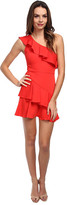 BCBGMAXAZRIA Calinda One Shoulder Ruffle Dress